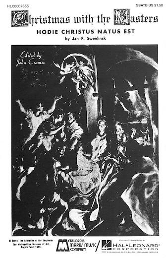 Hodie Christus natus est : SSATB : John Cramer : Jan Sweelinck : Sheet Music : 00007655 : 073999076554