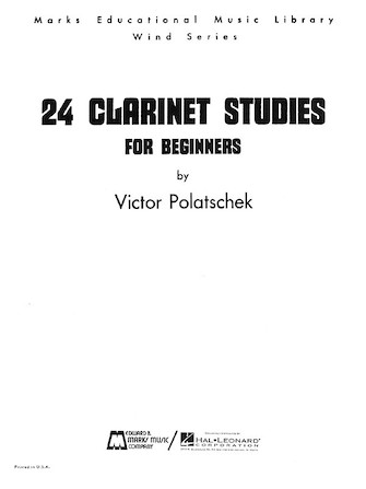 Product Cover for 24 Clarinet Studies for Beginners