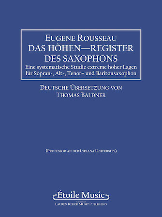 Product Cover for Saxophone High Tones – German Edition