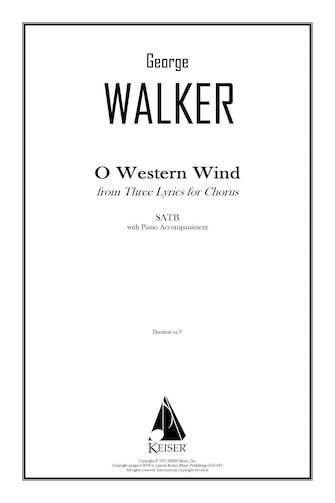 Product Cover for O Western Wind (from Three Lyrics for Chorus)