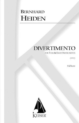 Product Cover for Divertimento for Tuba and Eight Instruments
