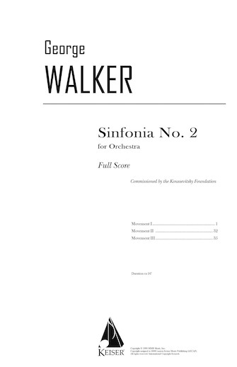 Product Cover for Sinfonia No. 2