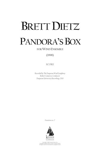Product Cover for Pandora's Box