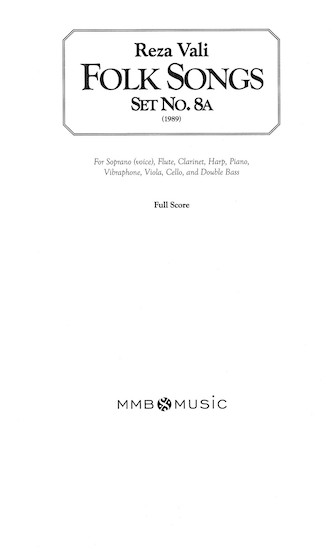 Product Cover for Folk Songs, Set No. 8A