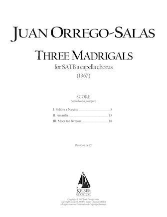 Product Cover for 3 Madrigals, Op. 62