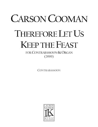 Product Cover for Therefore Let Us Keep the Feast