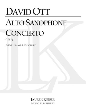 Product Cover for Saxophone Concerto (Piano Reduction)