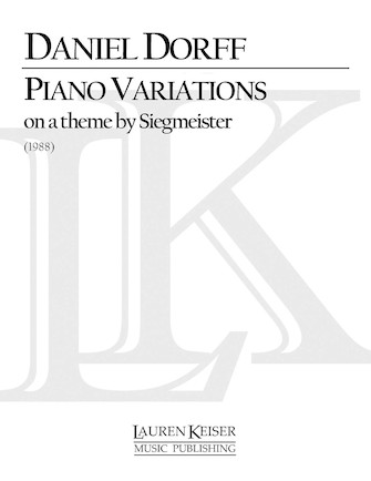 Product Cover for Piano Variations on a Theme by Siegmeister
