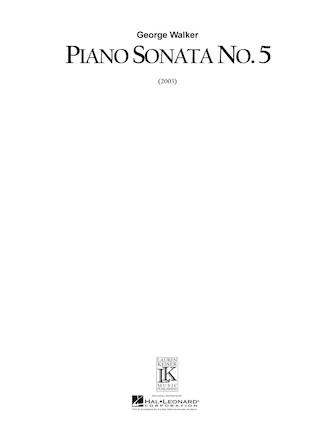 Product Cover for Piano Sonata No. 5