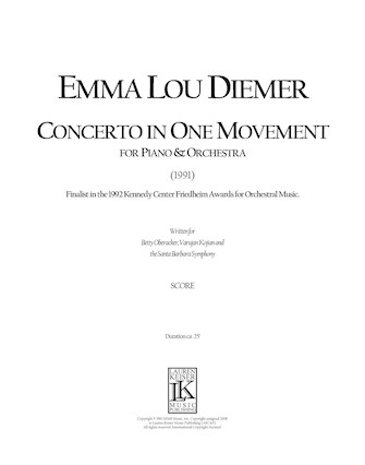 Product Cover for Concerto in One Movement