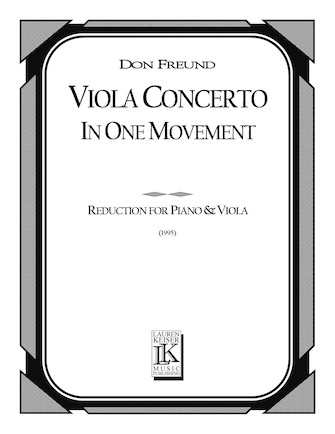 Product Cover for Viola Concerto in One Movement (Piano Reduction)