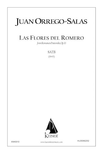 Product Cover for Las Flores Del Romero (from Romances Pastorales, Op. 10)