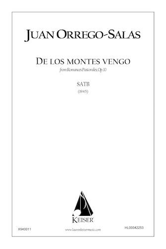 Product Cover for De Los Montes Vengo (from Romances Pastorales, Op. 10)