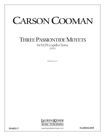 Product Cover for Three Passiontide Motets