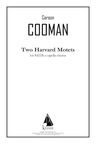 Product Cover for Two Harvard Motets