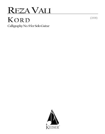 Product Cover for Kord for Solo Guitar: Calligraphy No. 9