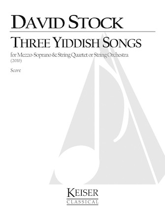 Product Cover for 3 Yiddish Songs for Mezzo Soprano and String Quartet