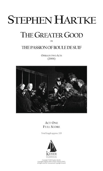Product Cover for The Greater Good: Opera in Two Acts