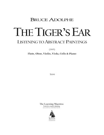Product Cover for The Tiger's Ear: Listening to Abstract Paintings