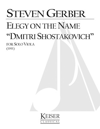 "Product Cover for Elegy on the Name ""Dmitri Shostakovich"""