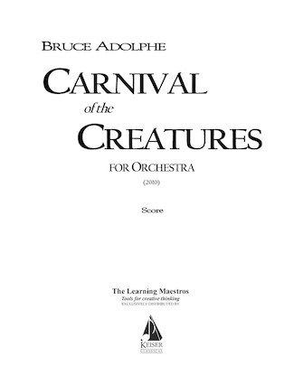 Product Cover for Carnival of the Creatures