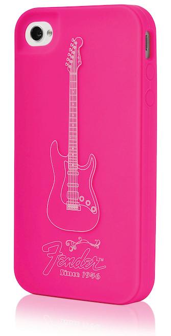 Fender iPhone 4 Protective Magenta Pick Silicone Case