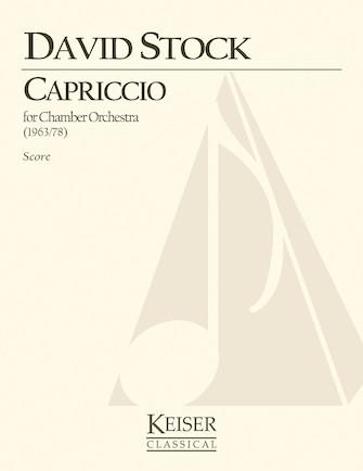 Product Cover for Capriccio for Small Orchestra - Full Score