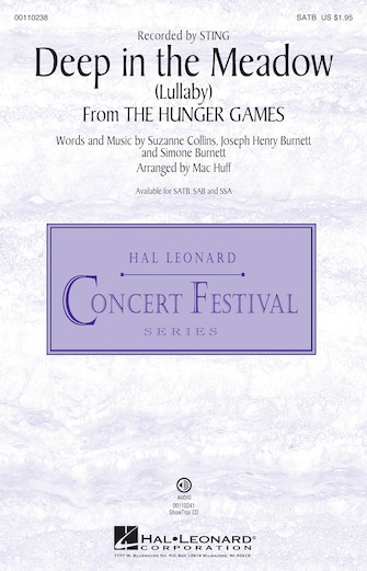 Deep in the Meadow (Lullaby) : SATB : Mac Huff : Sting : The Hunger Games : Sheet Music : 00110238 : 884088860790