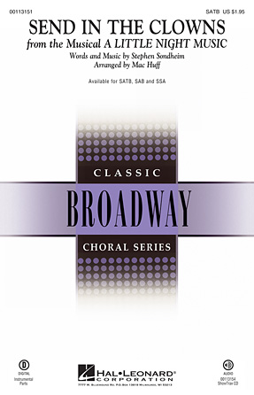 Send In The Clowns : SATB : Mac Huff : Stephen Sondheim : A Little Night Music : Songbook & CD : 00113151 : 884088867850