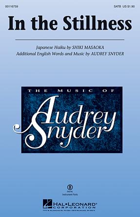 In the Stillness : SATB : Audrey Snyder : Audrey Snyder : Sheet Music : 00116759 : 884088882358