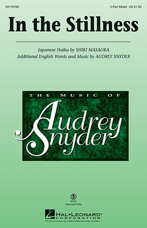 In the Stillness : SAB : Audrey Snyder : Audrey Snyder : Sheet Music : 00116760 : 884088882365
