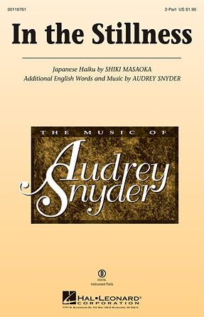 In the Stillness : 2-Part : Audrey Snyder : Audrey Snyder : Sheet Music : 00116761 : 884088882372