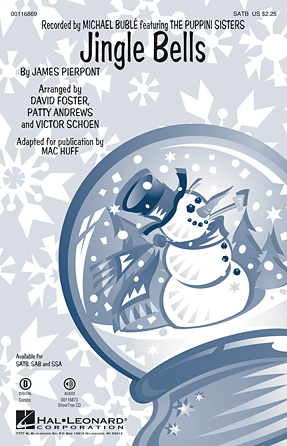 Jingle Bells : SSA : Victor Schoen : James Pierpont : The Puppini Sisters : Sheet Music : 00116871 : 884088883782