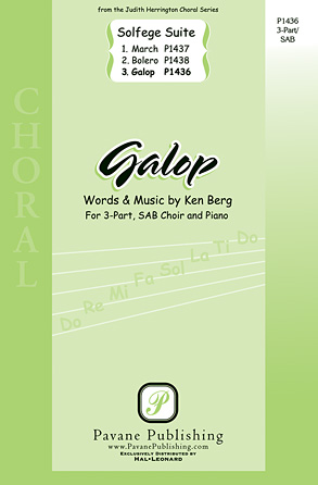 Galop : SAB : Ken Berg : Ken Berg : Sheet Music : 00117136 : 884088886356