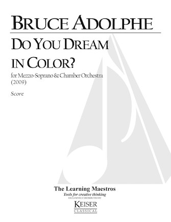 Product Cover for Do You Dream in Color for Mezzo Soprano and Chamber Orchestra