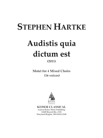 Product Cover for Audistis Quia Dictum Est: Motet for 4 Mixed Choirs (16 Voices)