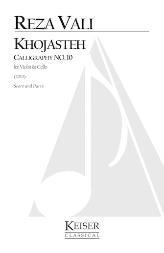 Product Cover for Khojasteh: Calligraphy No. 10 for Violin and Cello