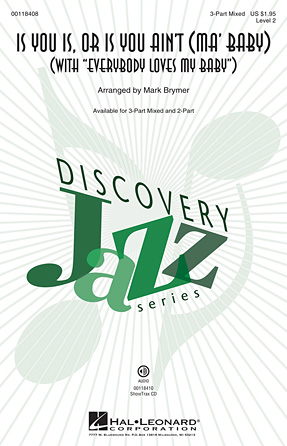 Is You Is or Is You Ain't (Ma' Baby) : 2-Part : Mark Brymer : Sheet Music : 00118409 : 884088898656
