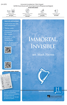 Product Cover for Immortal, Invisible, God Only Wise