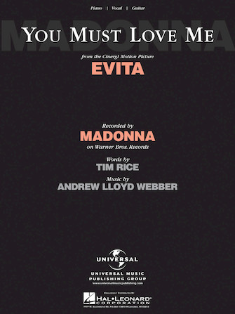 Product Cover for You Must Love Me (from Evita)