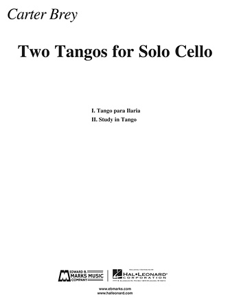 Product Cover for Two Tangos for Solo Cello