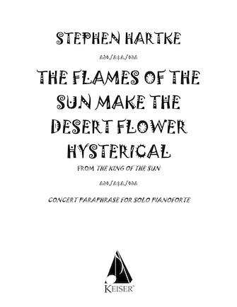 Product Cover for The Flames of the Sun Make the Desert Flower Hysterical