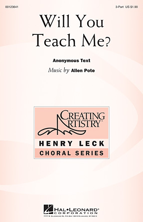 Product Cover for Will You Teach Me?