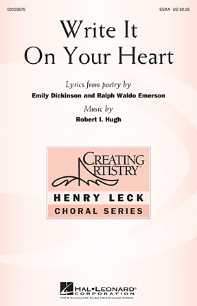 Product Cover for Write It On Your Heart