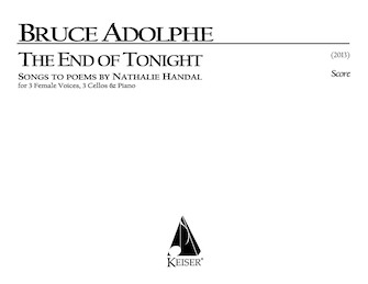 Product Cover for The End of Tonight for 3 Female Voices, 3 Cellos and Piano