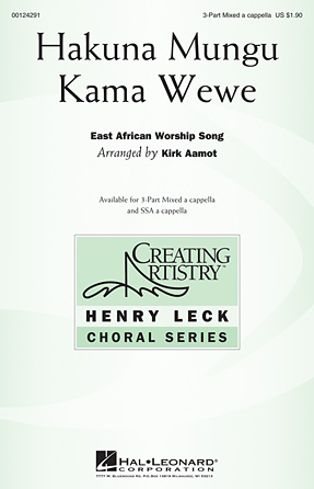 Hakuna Mungu Kama Wewe : SAB : Kirk Aamot : Sheet Music : 00124291 : 884088965846