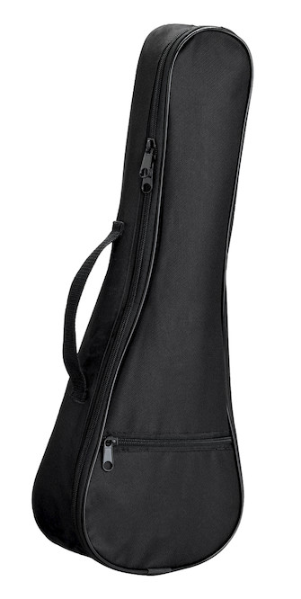 "Product Cover for 21"" Black Ukulele Gig Bag"