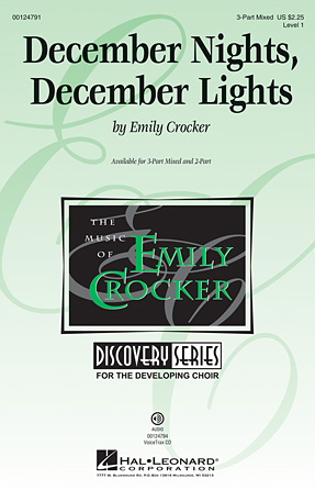 December Nights, December Lights : SAB : Emily Crocker : Emily Crocker : Sheet Music : 00124791 : 884088984601