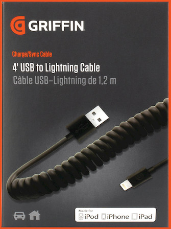Product Cover for 4' USB to Lightning Cable, Coiled