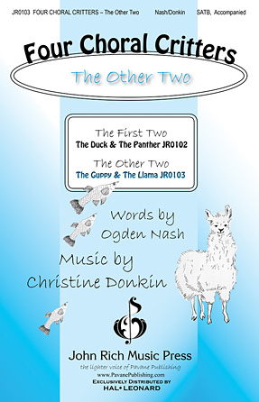 Four Choral Critters - The Other Two : SATB : Christine Donkin : Christine Donkin : Sheet Music : 00125001 : 884088986384
